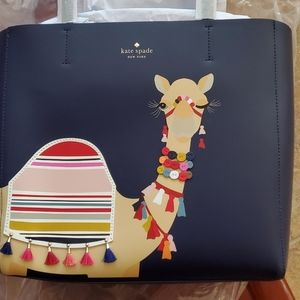 New Kate Spade Camel Tote Bag Purse